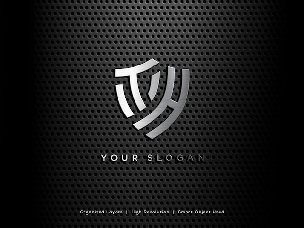 Modello di logo 3d di lusso