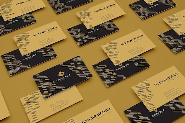 Mockup di design di biglietti da visita di lusso