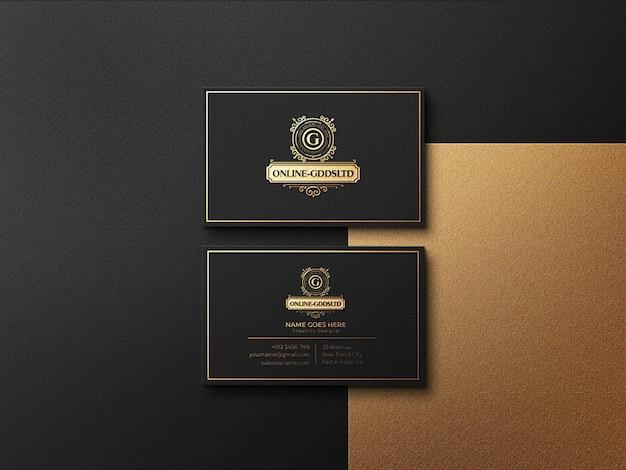 Modello di logo di biglietti da visita di lusso con effetto in rilievo e in rilievo