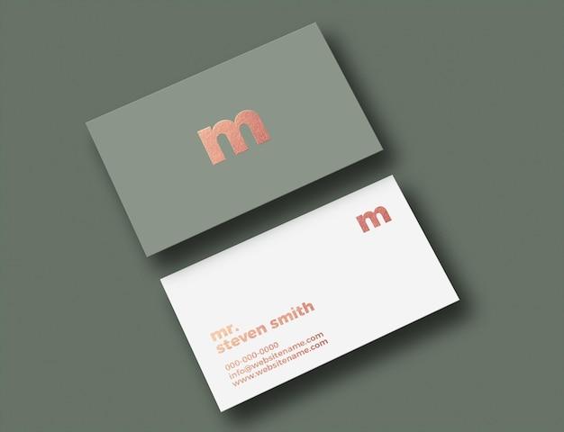Design mockup di biglietti da visita di lusso