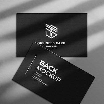 Biglietto da visita di lusso nero 3d realistico