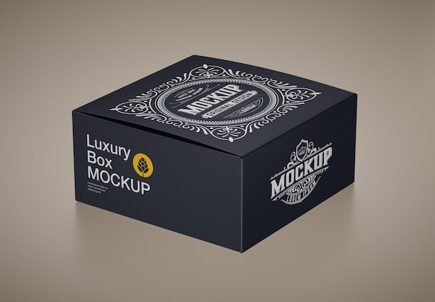 Mockup di scatola di cartone di lusso