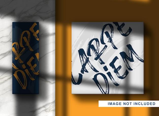 Scatola di mockup con logo in rilievo ravvicinato di lusso