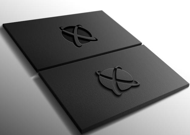 Mockup con logo inciso e goffrato di lusso