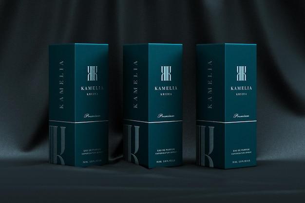 Mockup di packaging di prodotto di lusso ed elegante