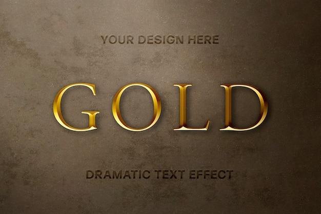 Effetto testo oro di lusso