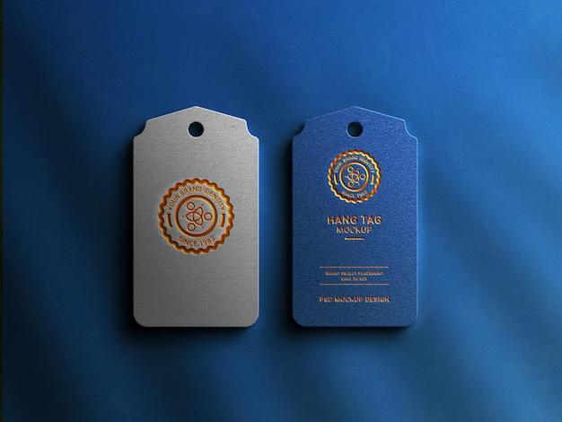 Cartellino di lusso con logo mockup