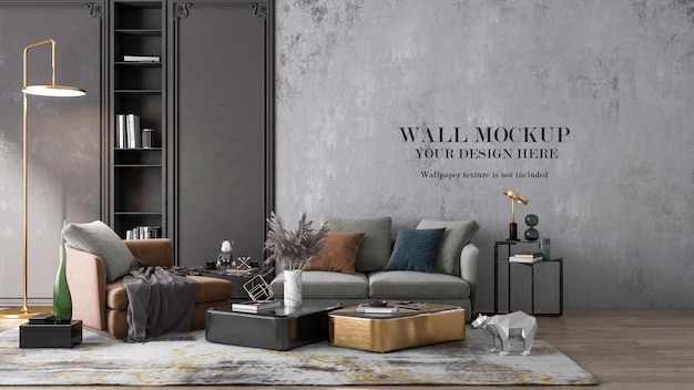 Mockup di rendering 3d interni di lusso