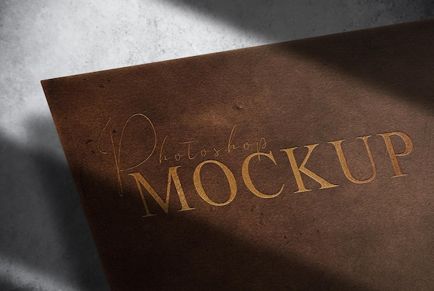 Mockup in pelle di lusso in rilievo