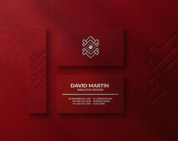 Mockup di logo di stampa tipografica di lusso sul biglietto da visita