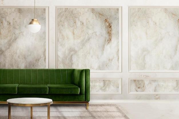 Mockup psd per interni di lusso per soggiorno