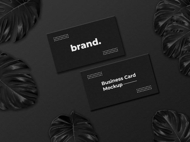 Modello di logo di lusso su biglietto da visita nero