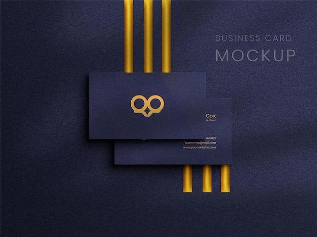 Modello di logo di lusso su biglietto da visita orizzontale