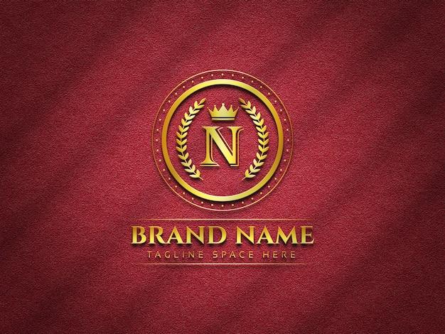 Modello di logo di lusso su sfondo texture