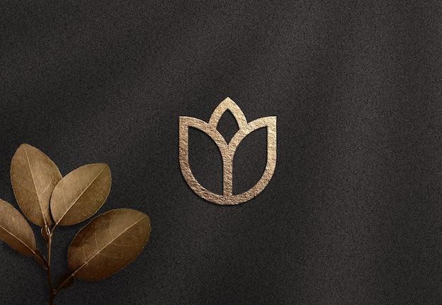 Mockup di logo di lusso
