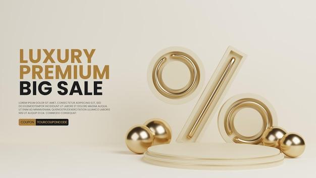 Minimalis premium di lusso con icona percentuale