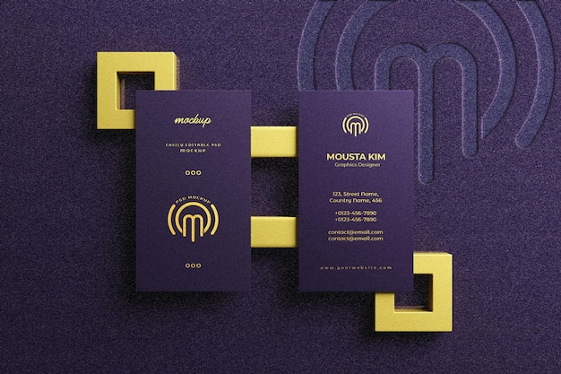 Biglietto da visita moderno e di lusso con logo mockup