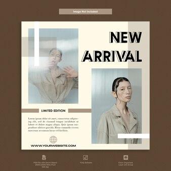Design di modelli di social media di moda moderna di lusso