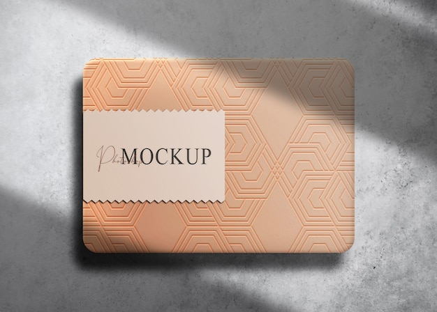 Mockup di scatola in rilievo di carta di lusso
