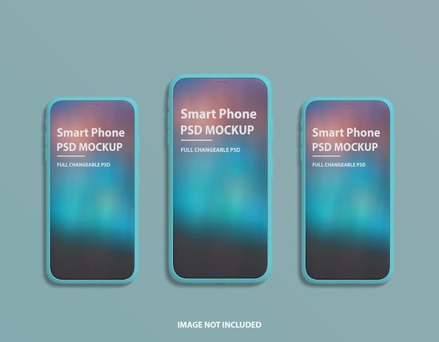 Design mockup dello schermo del telefono di lusso