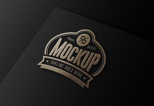 Mockup premium di lusso per logo