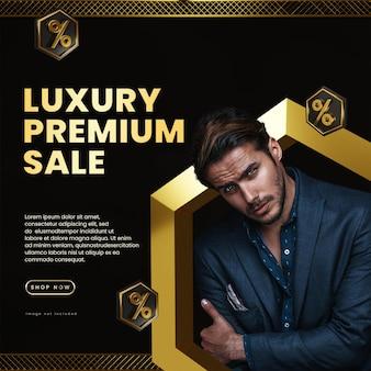 Modello di social media premium di lusso