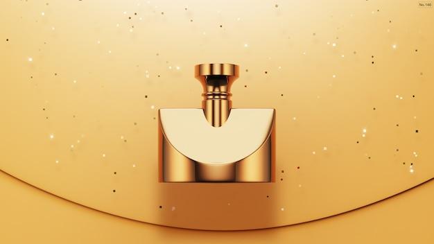 Prodotto di lusso con glitter oro su giallo