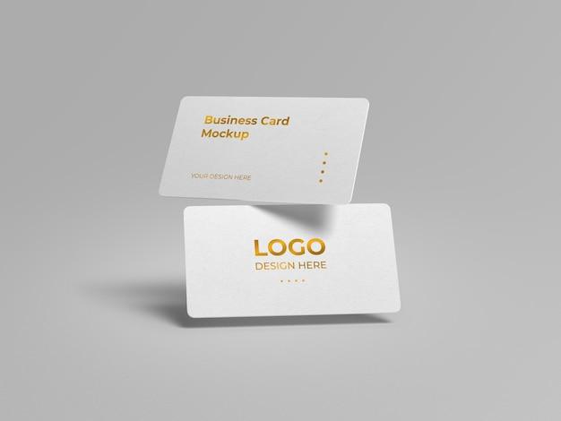 Design di mockup di biglietto da visita di lusso con angoli arrotondati