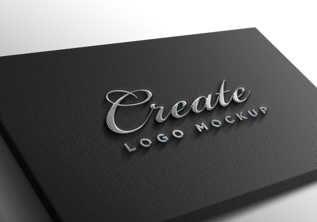 Mockup logo argento di lusso