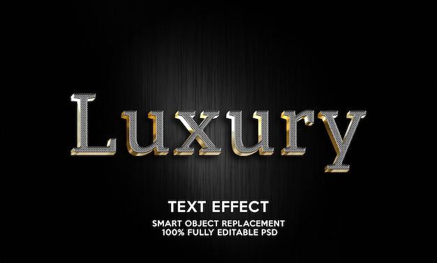 Modello di effetto testo di lusso