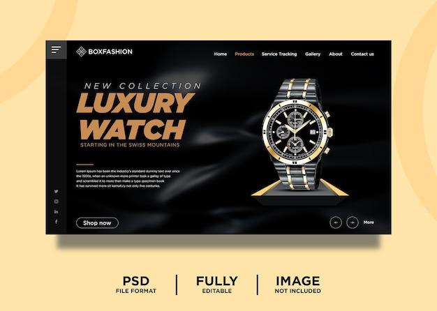 Modello di pagina di destinazione del prodotto per orologi di lusso