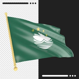 Bandiera di macao rendering isolato
