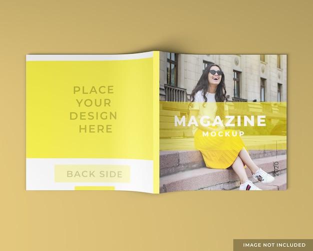 Mockup del lato posteriore della rivista