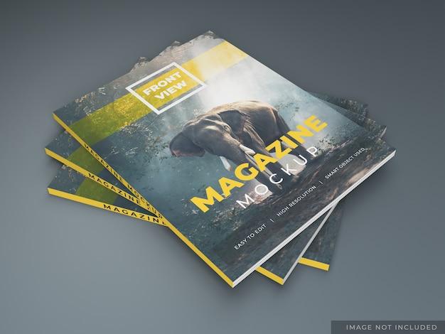 Mockup pacchetto rivista