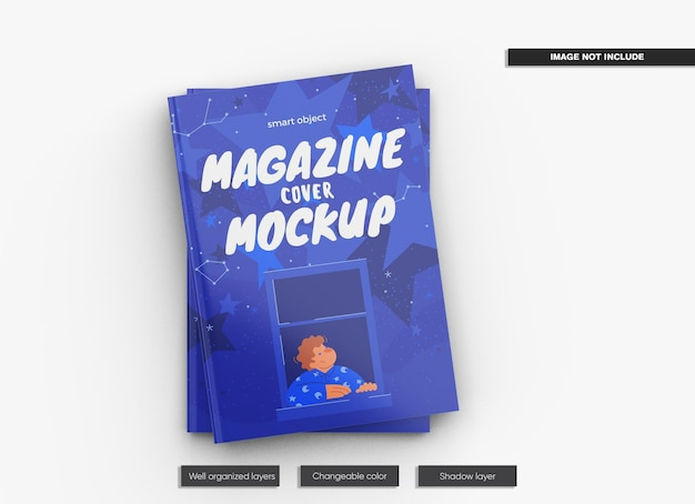 Magazine cover mockup design isolato