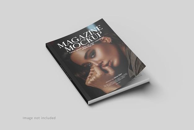 Rendering di mockup di copertina di una rivista isolato