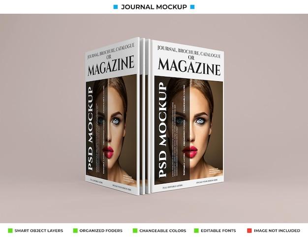 Design mockup di riviste, giornali o cataloghi