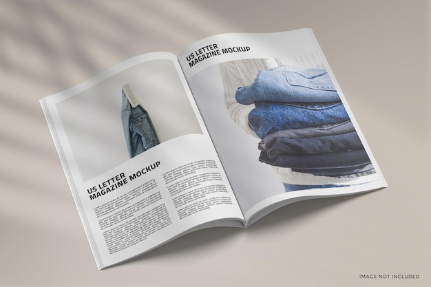 Design del mockup di una rivista