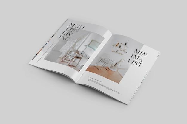 Magazine mockup Psd Premium