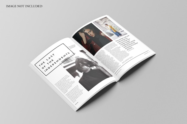 Mockup di rivista