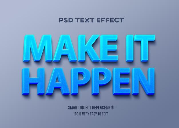 Realizza un modello di effetto testo