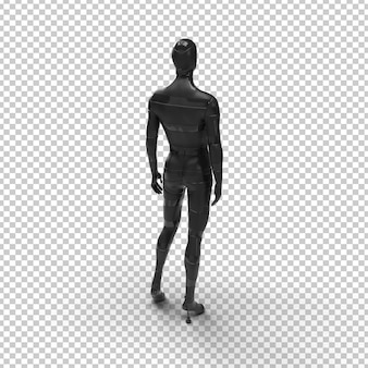 Silhouette uomo a forma di corpo manichino nero
