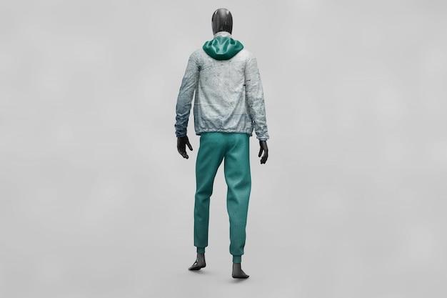Gli abiti sportivi dell'uomo si sfila