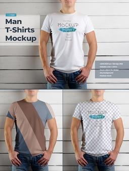 Mockup di magliette da uomo