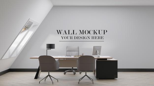 Design del mockup della parete della stanza del manager