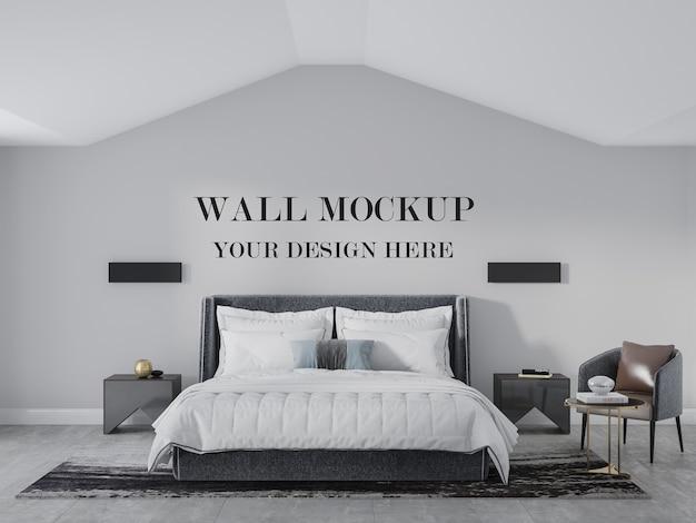 Parete della camera da letto mansardata per il tuo design