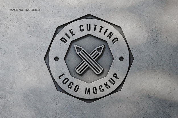 Fabbricazione di design mockup logo in cemento