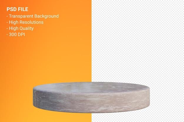 Design minimale del podio in marmo nella rappresentazione 3d isolata