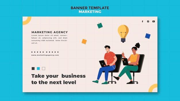 Modello di banner agenzia di marketing