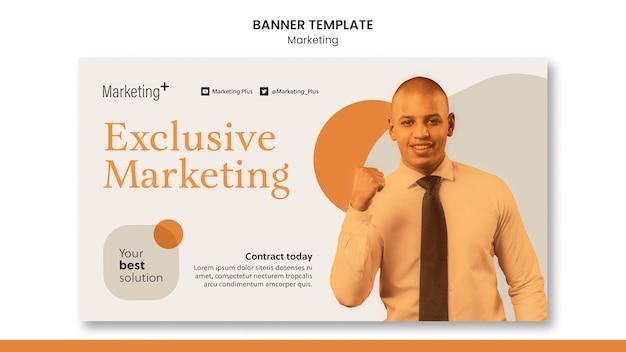 Modello di banner di marketing con foto
